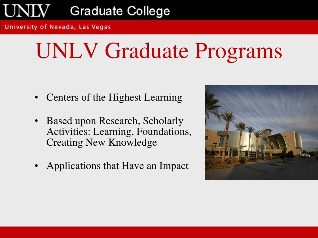 UNLV Graduate Programs