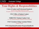 your rights responsibilities