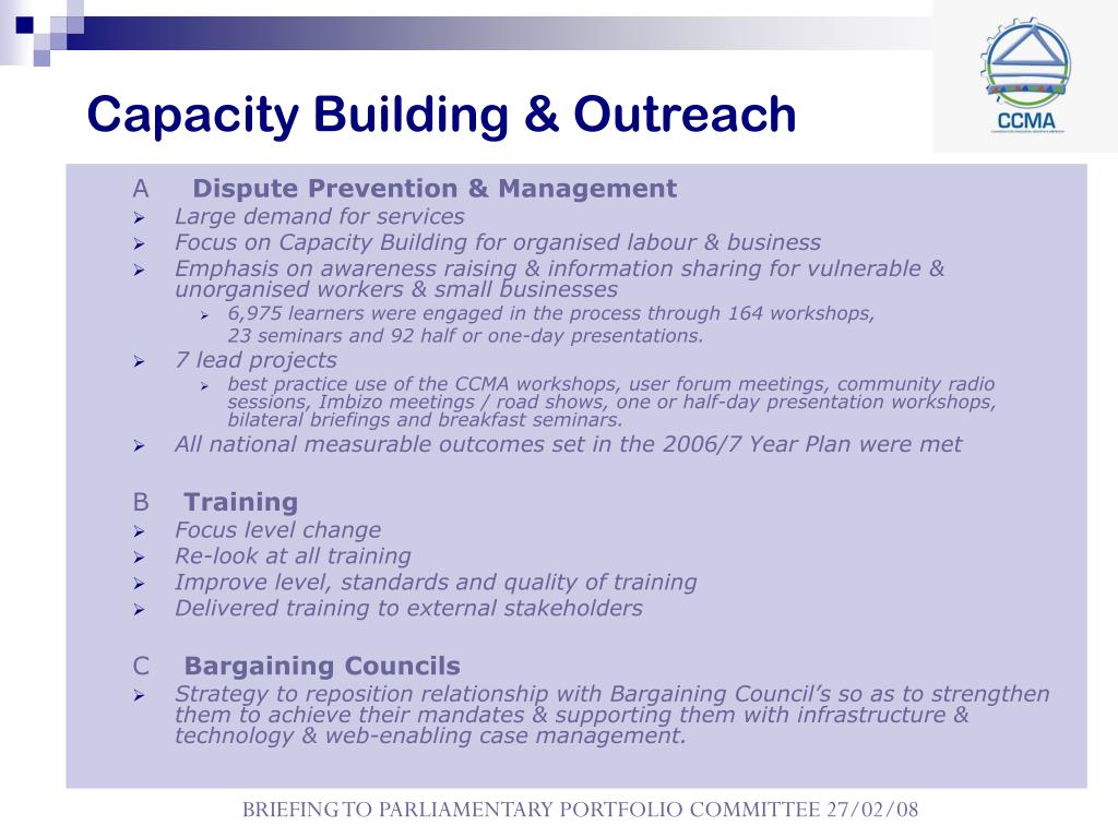Capacity Building & Outreach