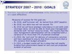 strategy 2007 2010 goals9