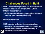 challenges faced in haiti