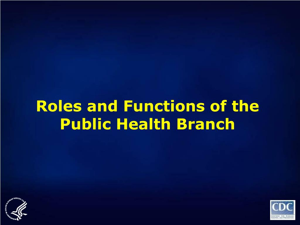 Roles and Functions of the Public Health Branch