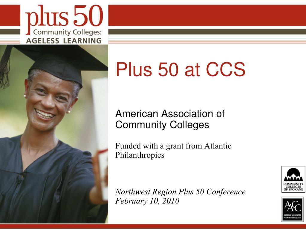 Plus 50 at CCS