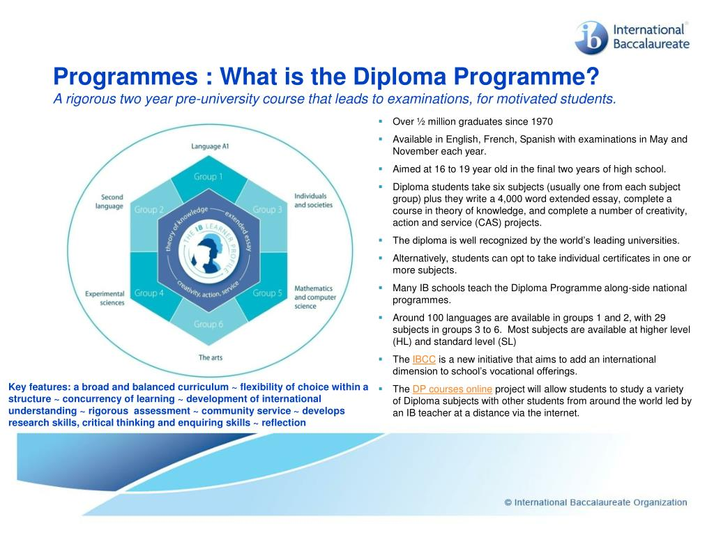 Programmes : What is the Diploma Programme?