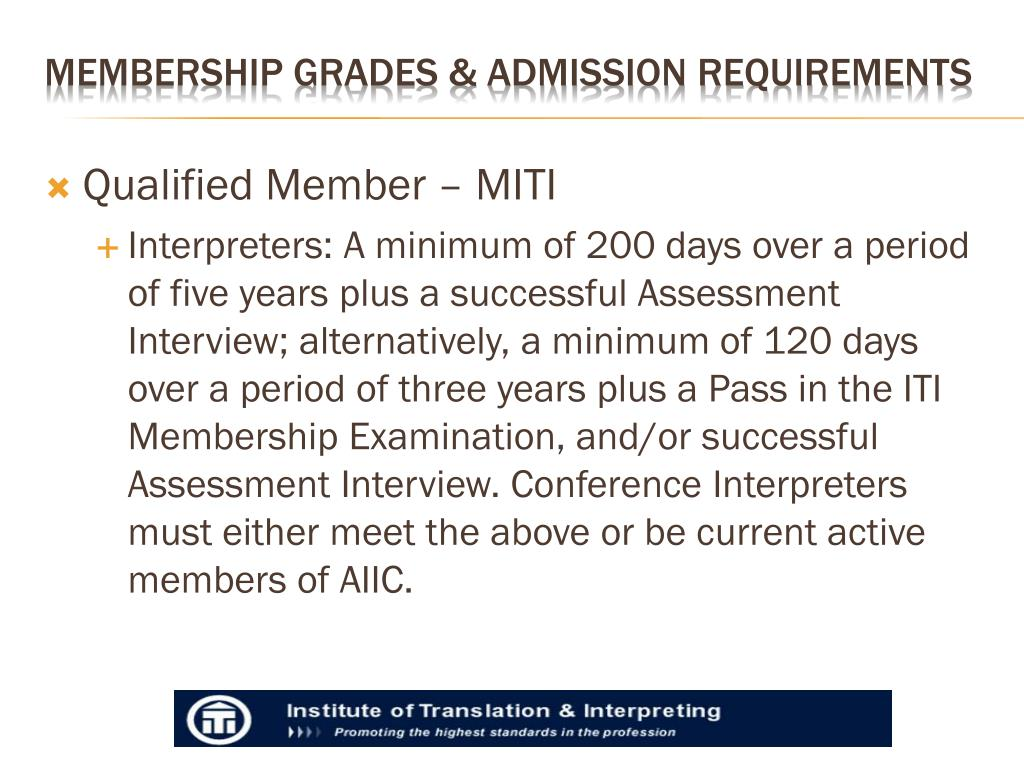 Qualified Member – MITI
