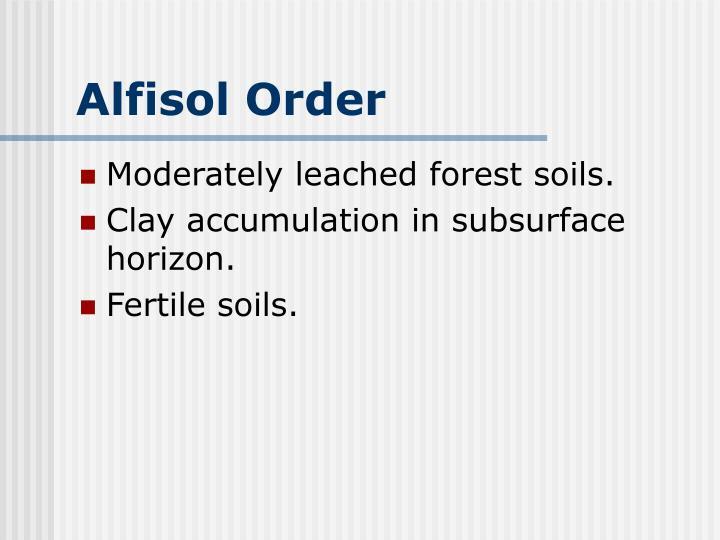 Alfisol Order