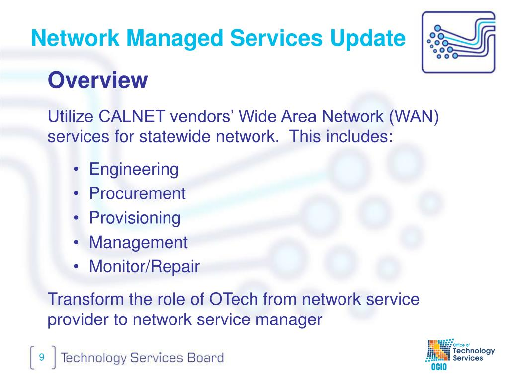Network Managed Services Update