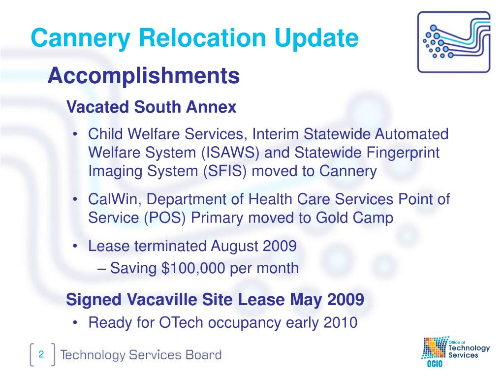 Cannery Relocation Update