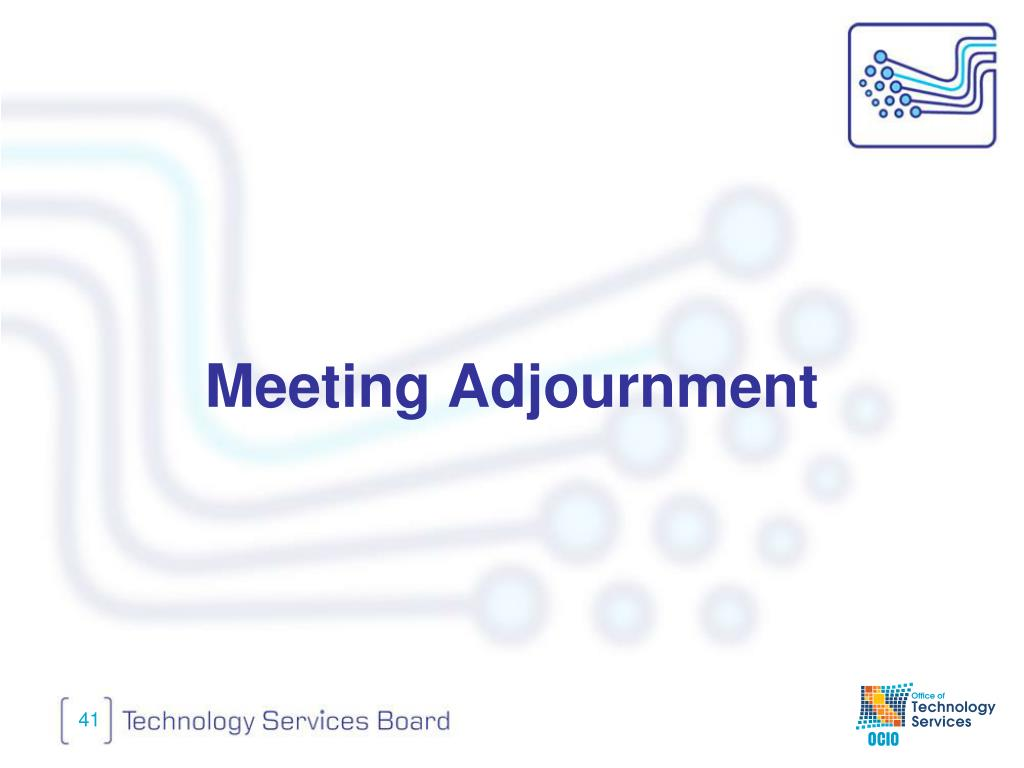 Meeting Adjournment