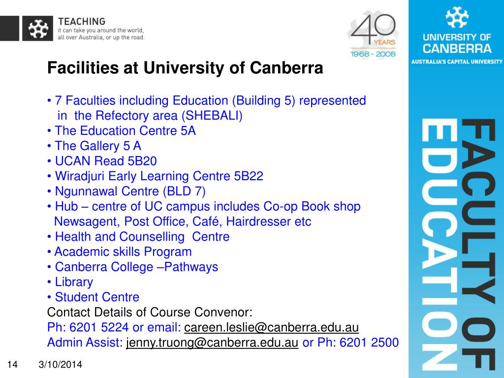 Facilities at University of Canberra