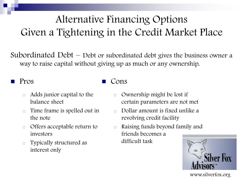 Alternative Financing Options