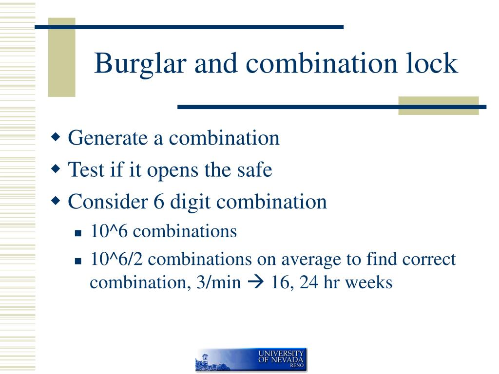 Burglar and combination lock