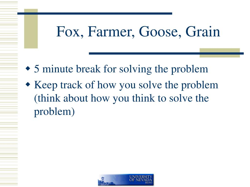 Fox, Farmer, Goose, Grain
