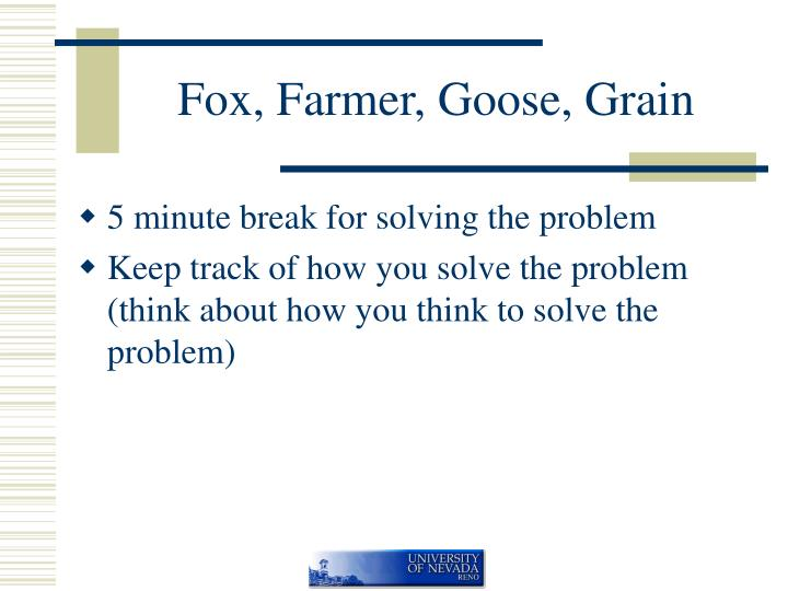 Fox farmer goose grain