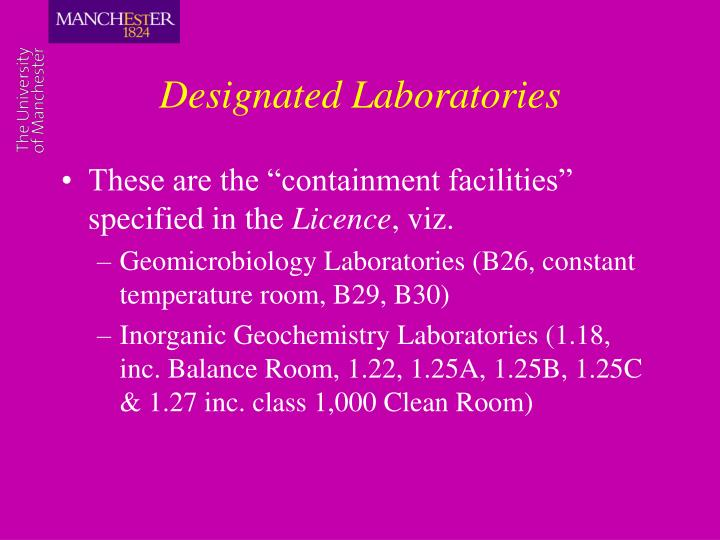 Designated Laboratories