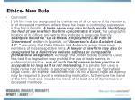 ethics new rule79