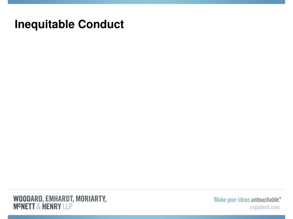 Inequitable Conduct