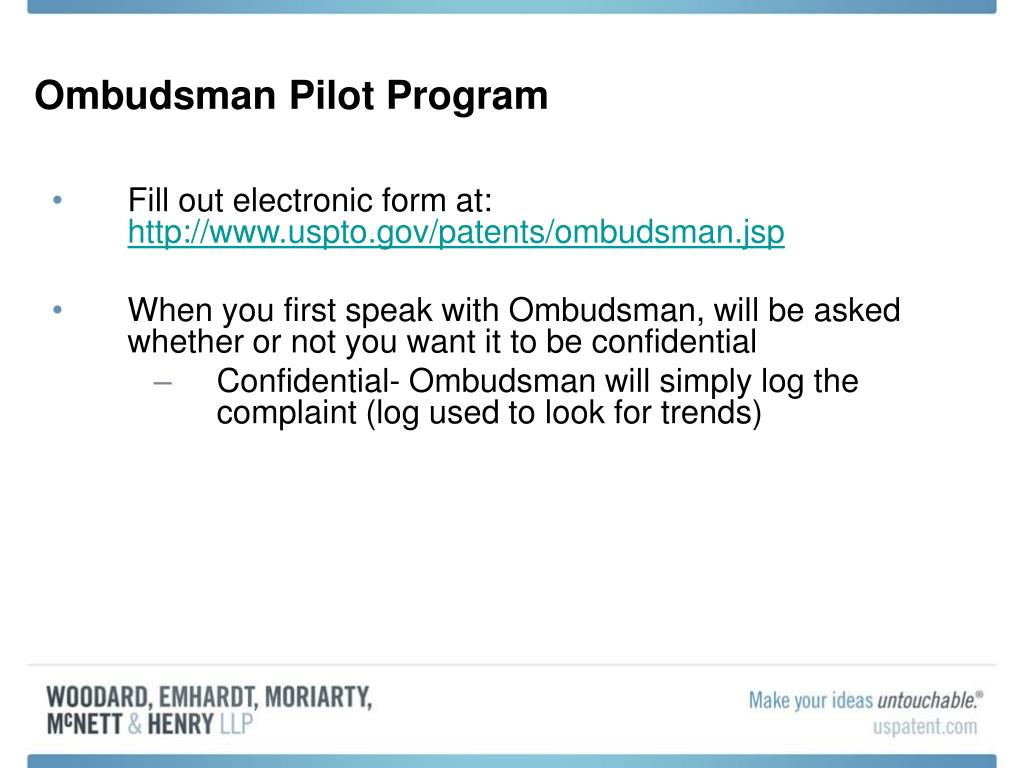 Ombudsman Pilot Program