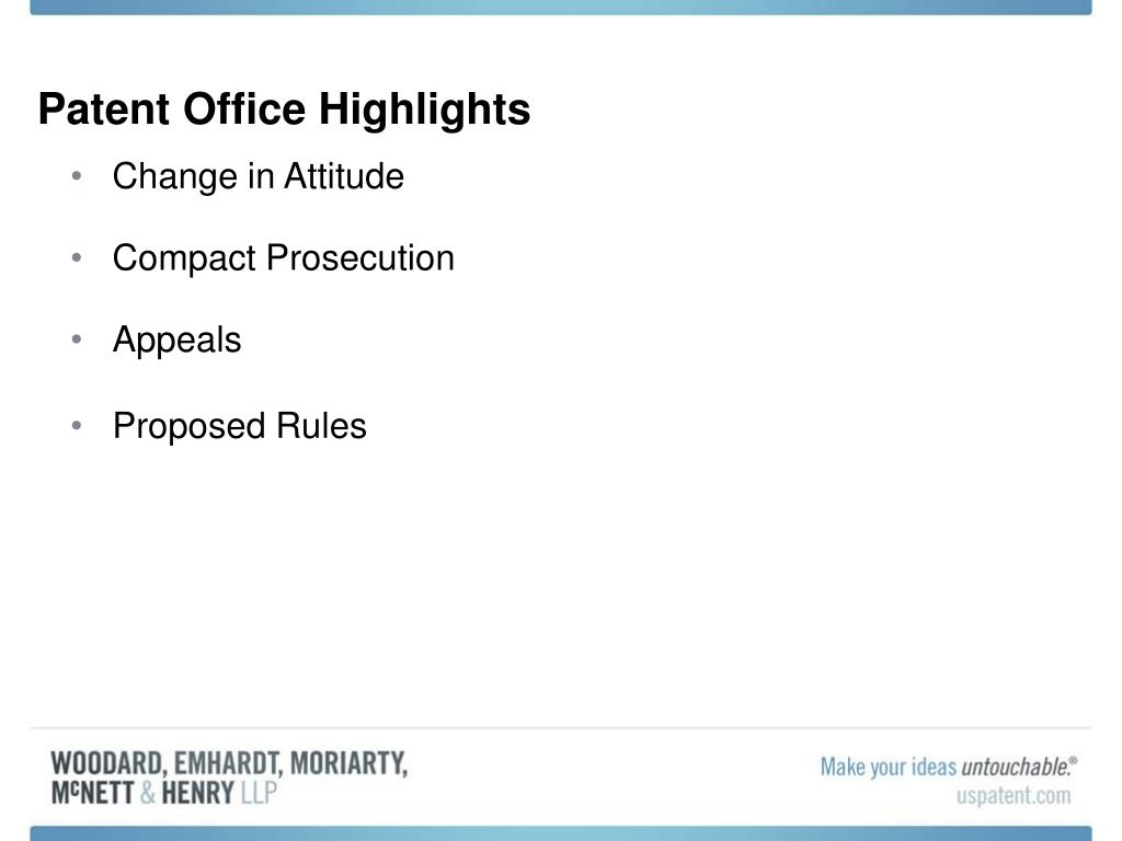 Patent Office Highlights