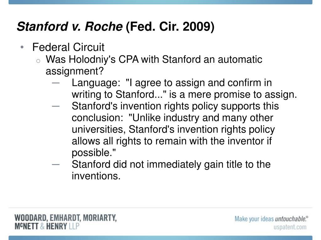 Stanford v. Roche