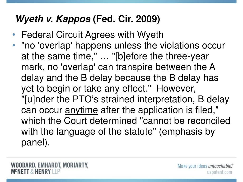 Wyeth v. Kappos