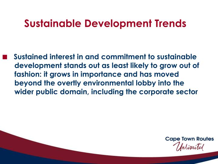 Sustainable Development Trends
