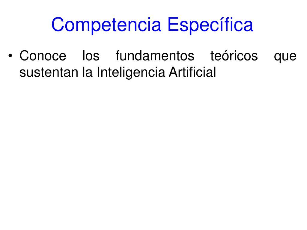 Competencia Específica