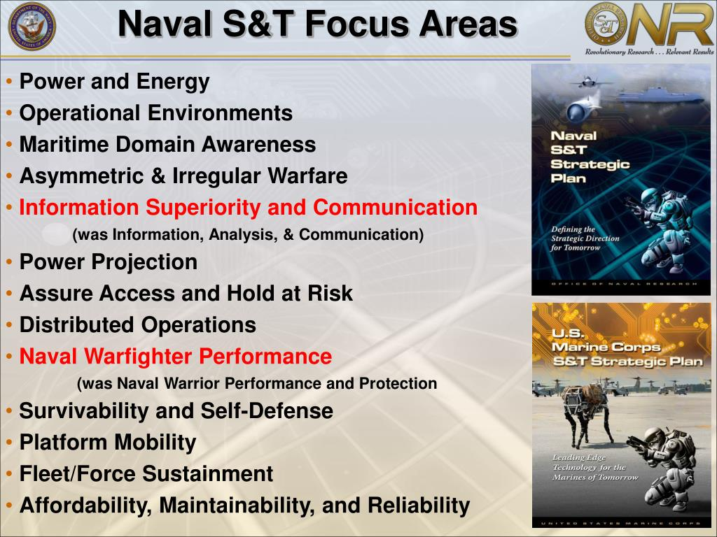 Naval S&T Focus Areas