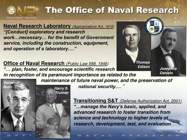 The Office of Naval Research