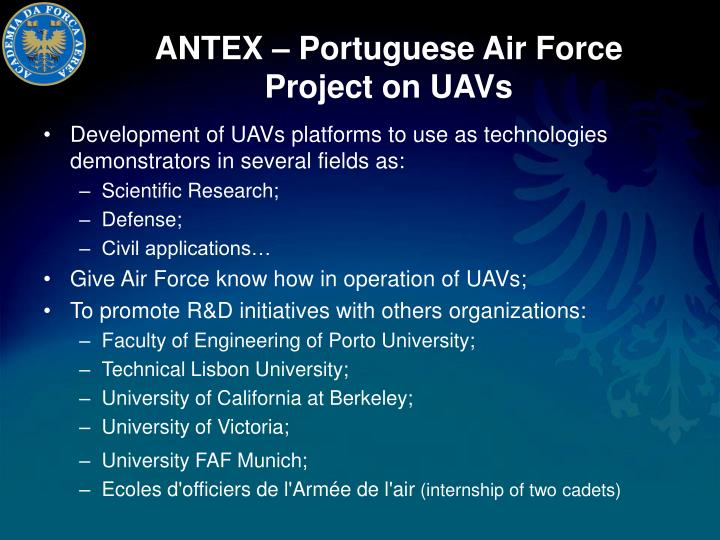 Antex portuguese air force project on uavs