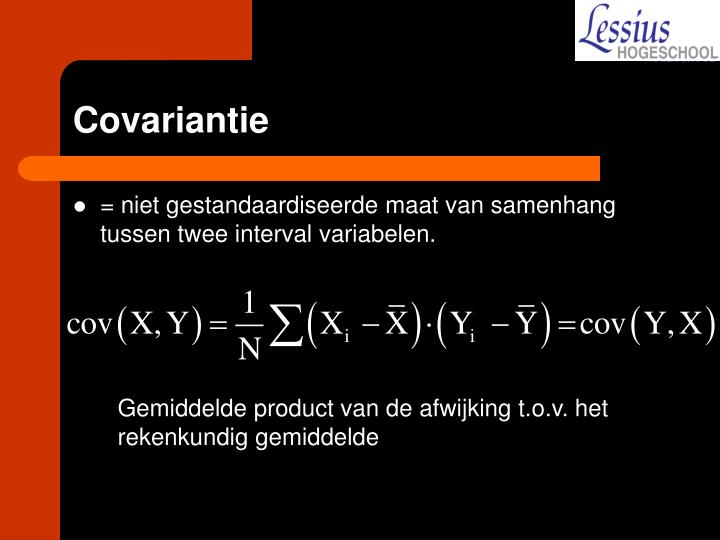 Covariantie