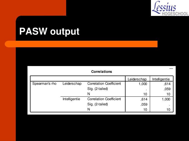 PASW output
