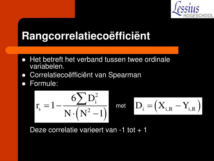 Rangcorrelatiecoëfficiënt