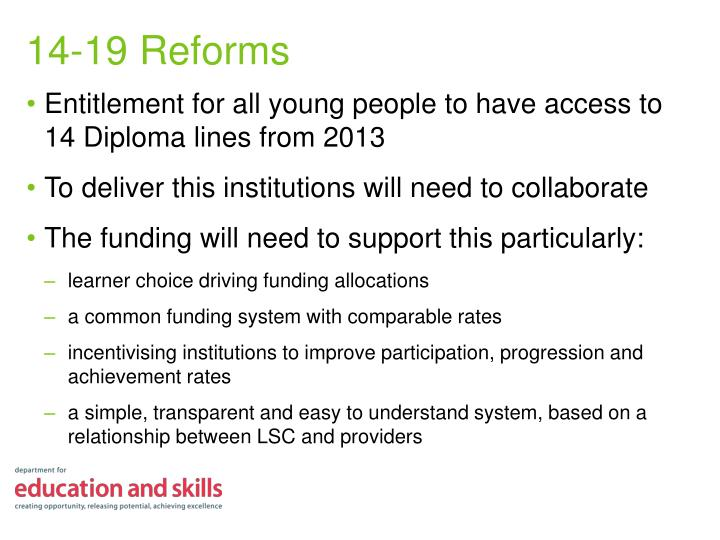 Entitlement for all young people to have access to 14 Diploma lines from 2013