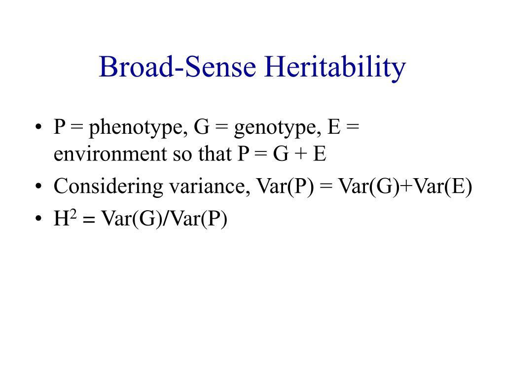 Broad-Sense Heritability