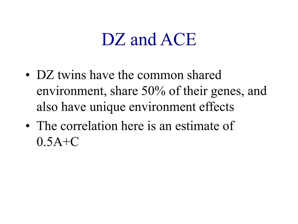 DZ and ACE