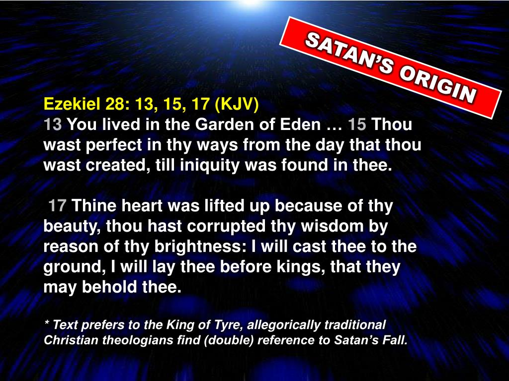 SATAN'S ORIGIN