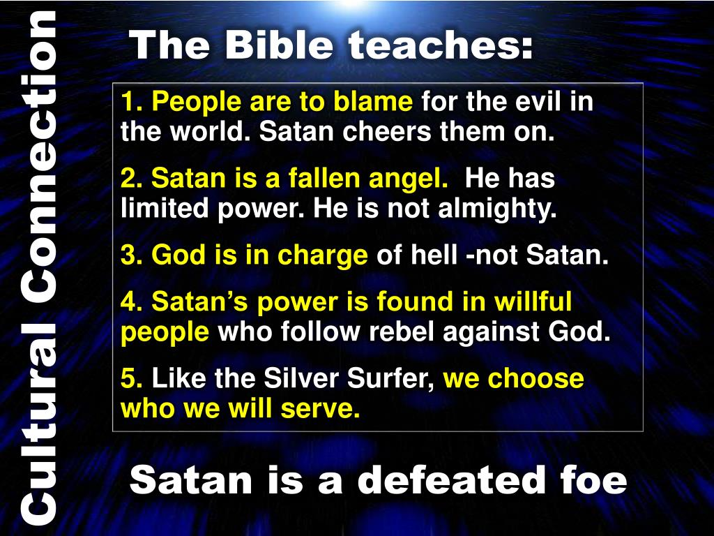 The Bible teaches: