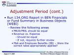 adjustment period cont1