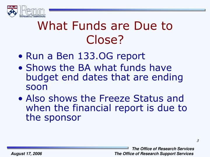What Funds are Due to Close?