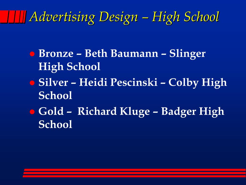 Advertising Design – High School