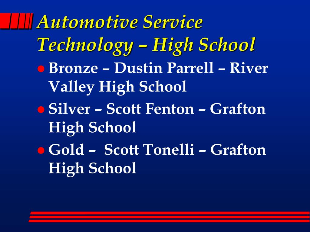 Automotive Service Technology – High School