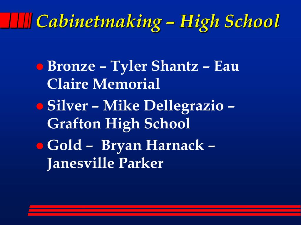 Cabinetmaking – High School