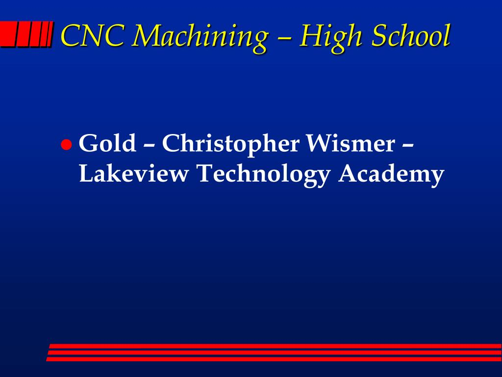 CNC Machining – High School