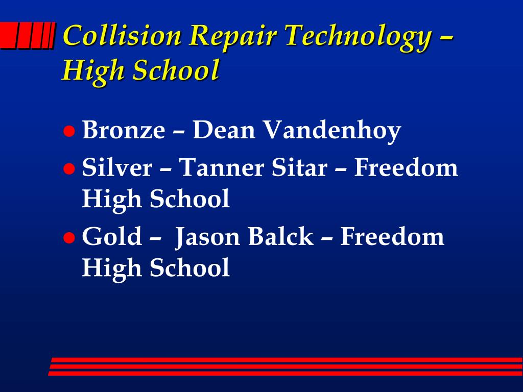 Collision Repair Technology – High School