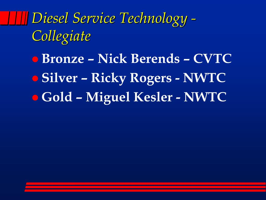 Diesel Service Technology - Collegiate