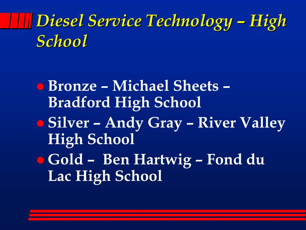Diesel Service Technology – High School