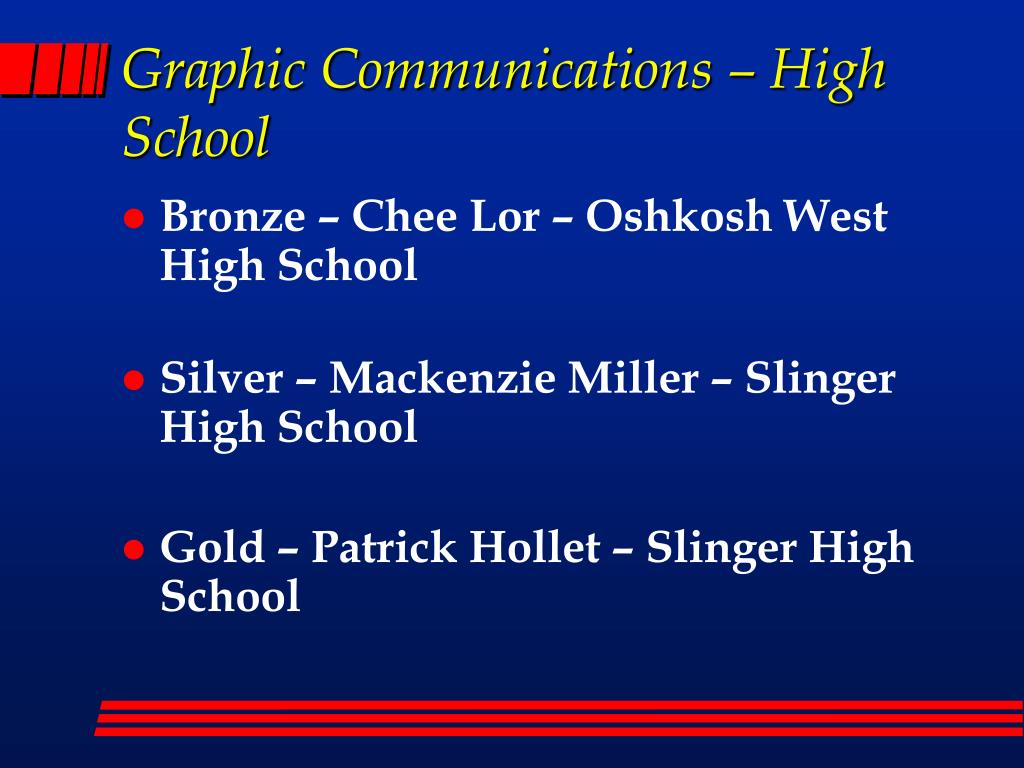 Graphic Communications – High School