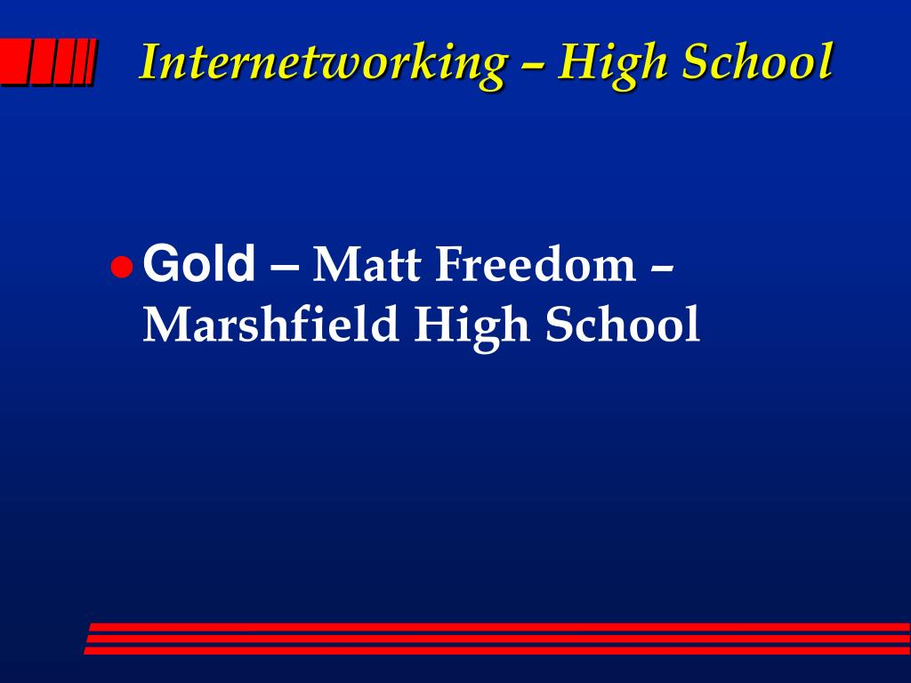Internetworking – High School