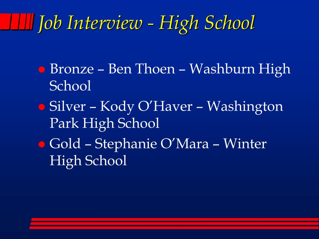 Job Interview - High School